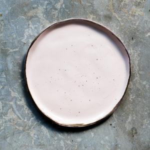 Farfurie desert Chicineta Stardust roz