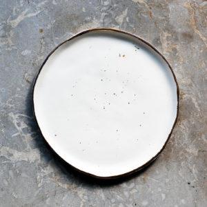 Farfurie desert Stardust Chicineta alb
