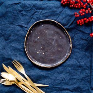 Farfurie desert aperitiv Stardust Dark Chocolate