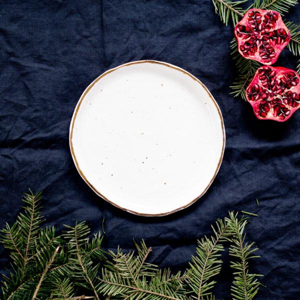 Farfurie desert aperitiv Stardust Snow White